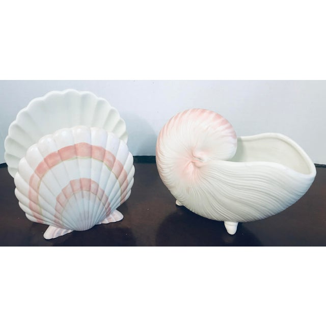 Shell Fitz & Floyd Pink Shell Serving Dishes - Set of 4 For Sale - Image 7 of 10