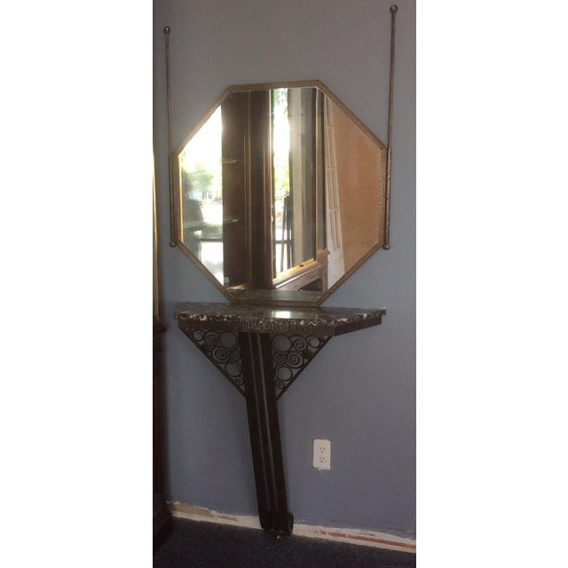 Wrought Iron Console Table and Mirror Set For Sale - Image 11 of 11