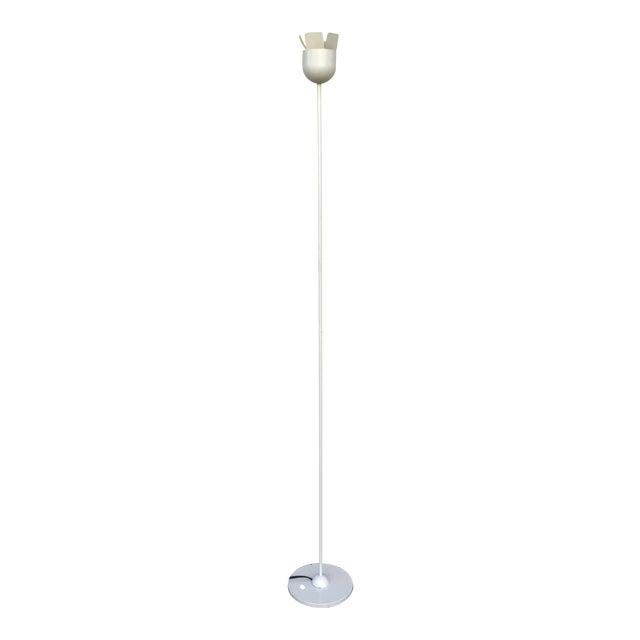 Relco Italian White Metal Floor Lamp For Sale