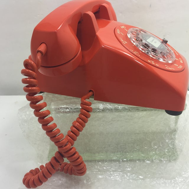 Vintage Stromberg Carlson Orange Rotary Dial Phone - Image 3 of 11