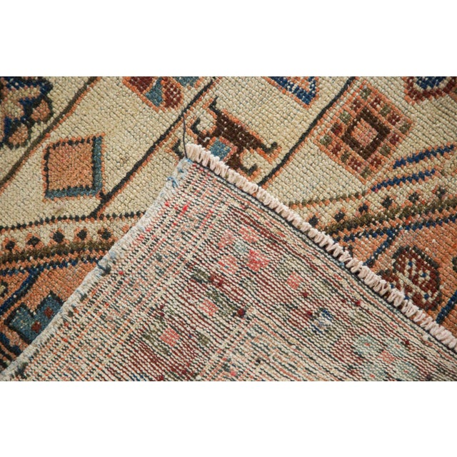 """Textile Vintage Distressed Malayer Rug - 4'4"""" X 6'3"""" For Sale - Image 7 of 12"""