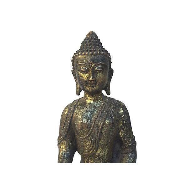 Gold Buddha Seated Statue - Image 5 of 6