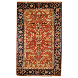 "Traditional Pasargad N Y Serapi Design Hand-Knotted Rug - 3'1"" X 5' For Sale"