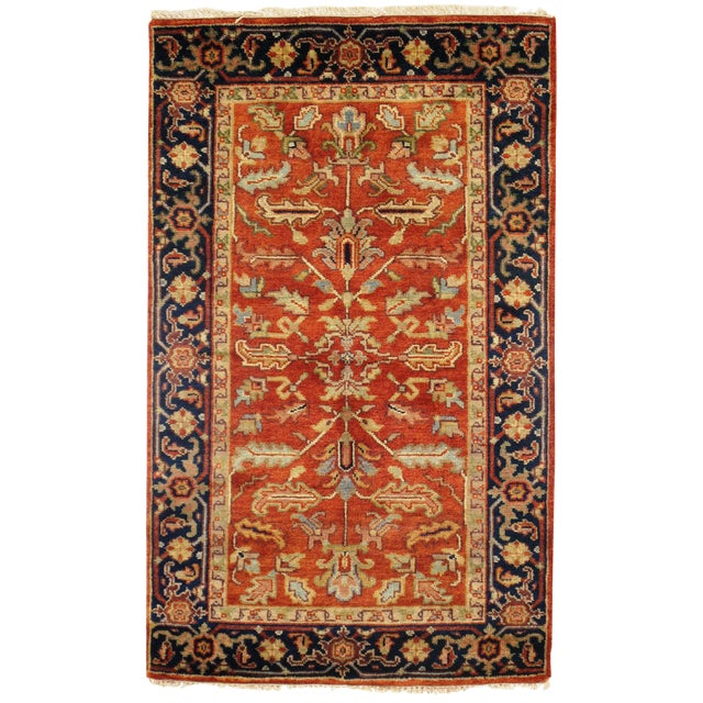 """Traditional Pasargad N Y Serapi Design Hand-Knotted Rug - 3'1"""" X 5' For Sale"""
