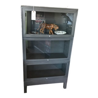 Vintage Steel Lawyer Bookcase For Sale