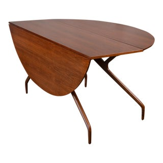 Ed Frank for Glenn of California Drop Leaf Walnut Dining Table