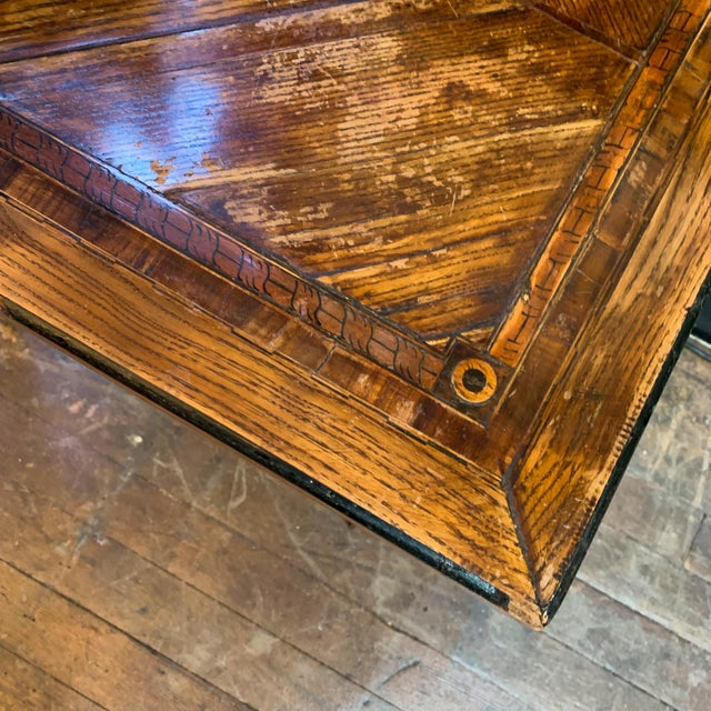 Late 1800's Napoleon Style Side Table For Sale - Image 4 of 6