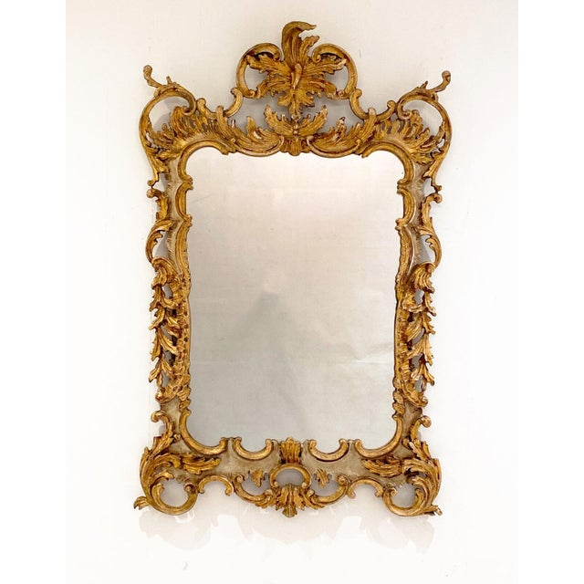 Wood Vintage Italian Gilt and Painted Mirror For Sale - Image 7 of 7