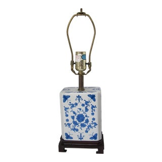 Blue and White Chinoiserie Lamp