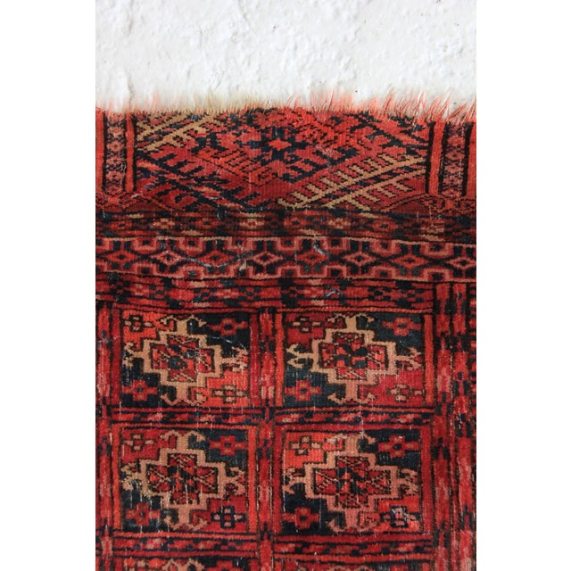 Vintage Red Square Rug - 3′ × 3′1″ - Image 5 of 6