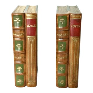 Vintage N S Gustin Pottery Bookends - a Pair For Sale