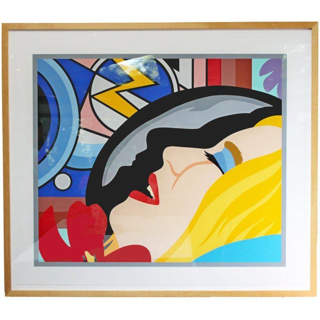 Blue Bedroom Face With Lichtenstein Signed Tom Wesselmann Numbered 5/60 1997 For Sale - Image 8 of 8