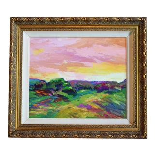 Ojai California Landscape Oil Painting by Juan Guzman For Sale