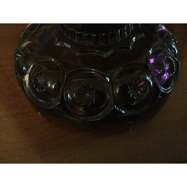 Vintage Amethyst Lidded Candy Dish - Image 6 of 8