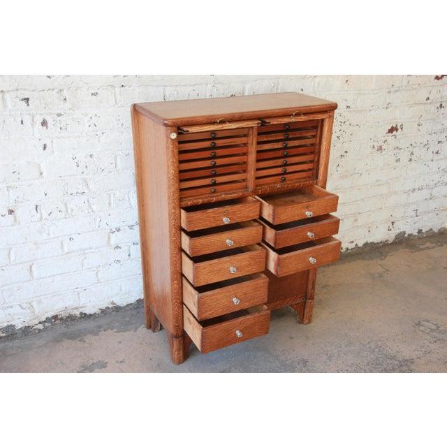 Oak Antique Oak 22-Drawer Dental Cabinet For Sale - Image 7 of 13 - Superior Antique Oak 22-Drawer Dental Cabinet DECASO