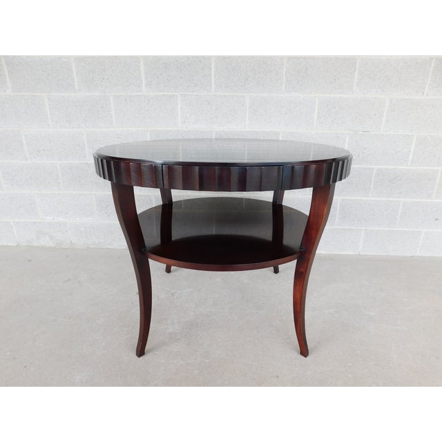 "Baker Furniture Company Baker Barbara Barry Collection Mahogany Center Table 37""w For Sale - Image 4 of 9"