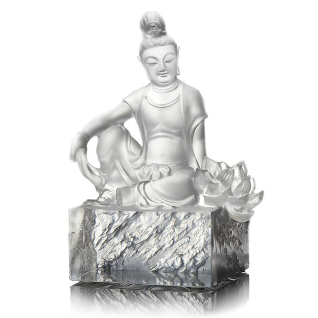 Metal Liuli Crystal Art Crystal Guanyin (Limited Edition) For Sale - Image 7 of 7