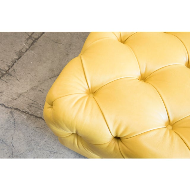 Barclay Butera Home Yellow Keaton Ottoman - Image 3 of 4