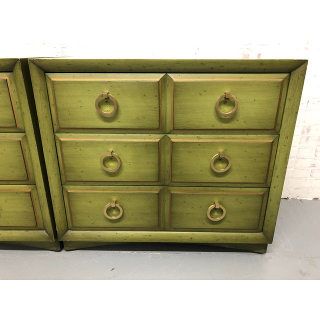 Pair of Robsjohn-Gibbings pair of chests for Widdicomb ready to mix with your BOHO style or refinish to go with you MCM...