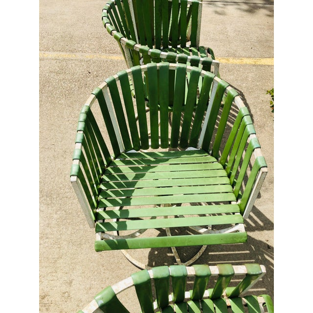 Vintage Mid Century Modern White Metal Chairs For Sale - Image 9 of 12