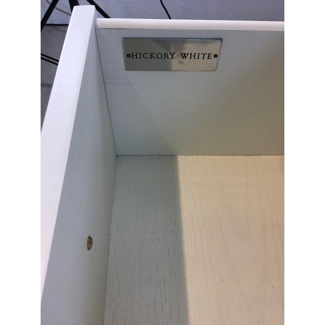 2010s Hickory White Modern White Wood Elliot Writing Desk For Sale - Image 5 of 8