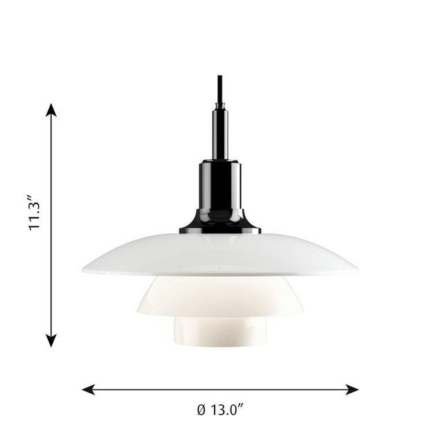 Poul Henningsen Brass and Glass Ph 3½-3 Pendant for Louis Poulsen For Sale - Image 11 of 12