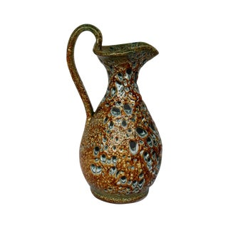 1950s French Vallauris Fat Lava Ewer For Sale
