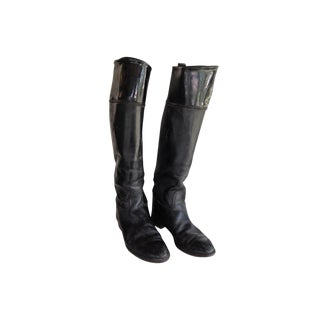 Black Leather Equestrian Boots For Sale