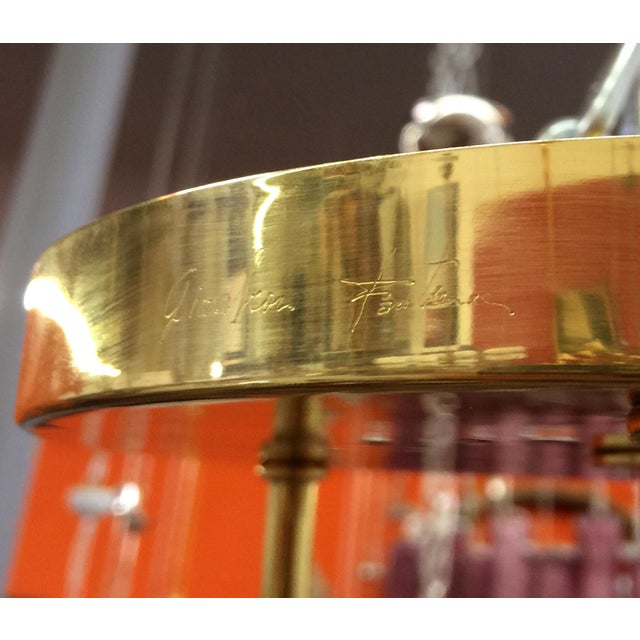 Gold Etched Flush Mount by Fabio Ltd For Sale - Image 8 of 9