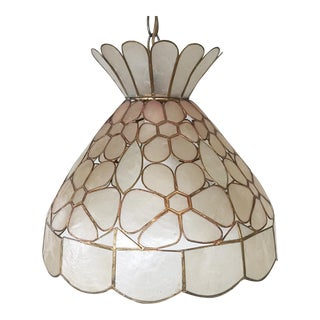 Vintage Capiz Shell Chandelier
