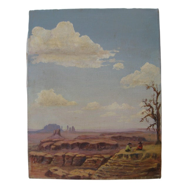 Desertscape Oil on Canvas, Dated 1978 - Image 1 of 3