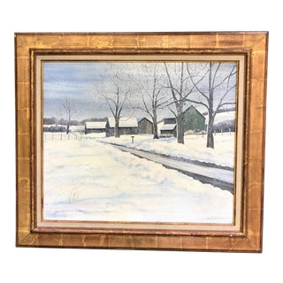 Original Signed Oil on Canvas by Mildred Burgess For Sale