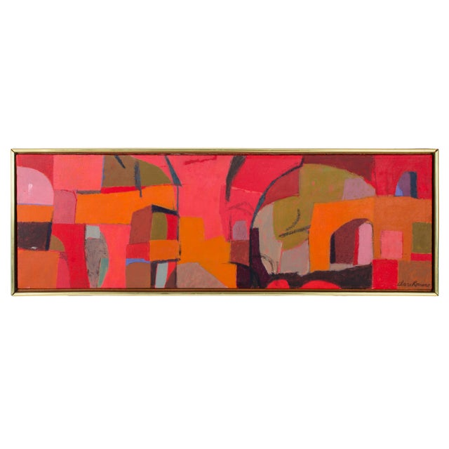 Mid 20th Century Abstract Oil Painting on Canvas by Clare Romano For Sale - Image 5 of 5
