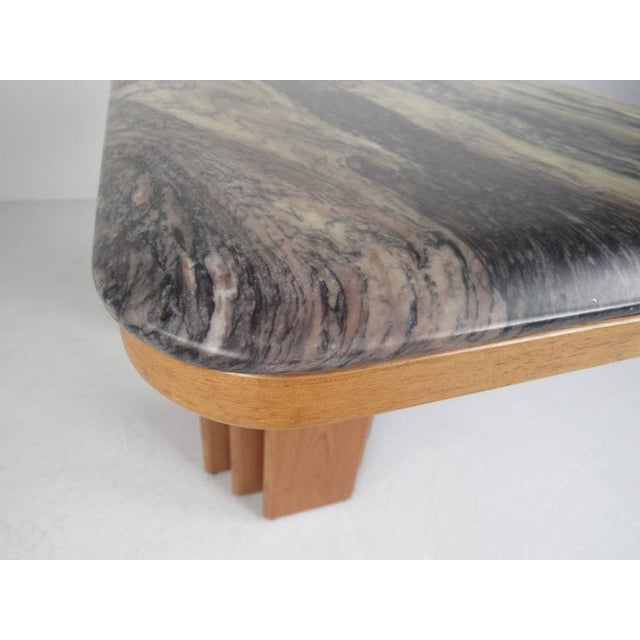 Teak Mid-Century Teak and Marble Console Table by Bendixen Design For Sale - Image 7 of 11