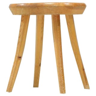 Handcrafted Stool in Pine, Finland, 1940s For Sale