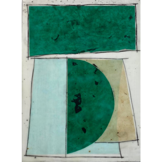 """""""Notes to My Younger Self"""" 9 Panels Encaustic Collage Installation by Gina Cochran For Sale In Washington DC - Image 6 of 13"""
