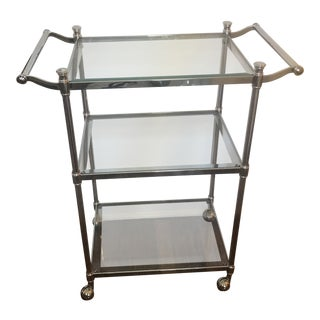 Restoration Hardware Chrome Cart