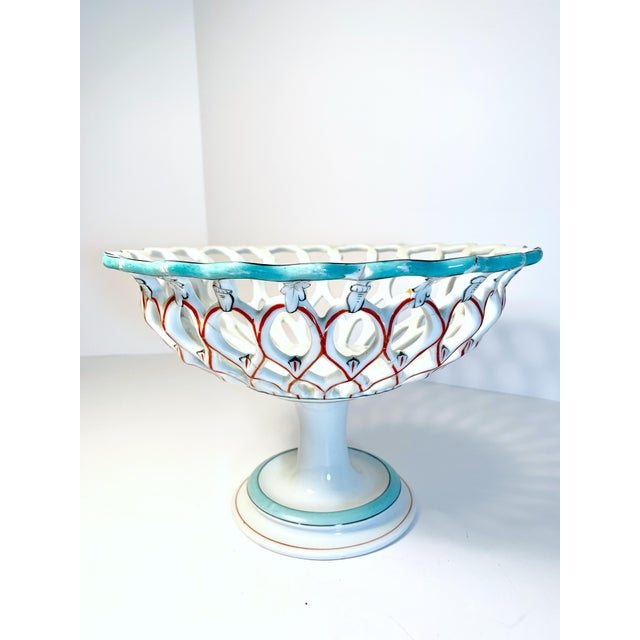 Antique Samson & Cie French Porcelain Neoclassical Centerpiece, Late 19th Century For Sale - Image 11 of 12