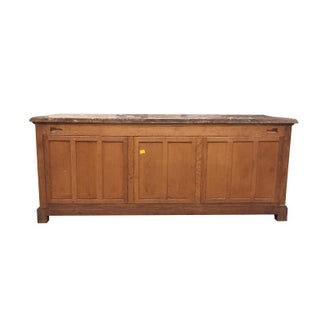 18th Century French Provincial Carved Wood Credenza or Buffet With Pink Serpentine Marble Top France 1700s Preview