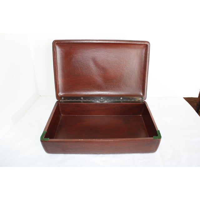 Syroco Midcentury Wood Box with Horse Head Detail - Image 5 of 7