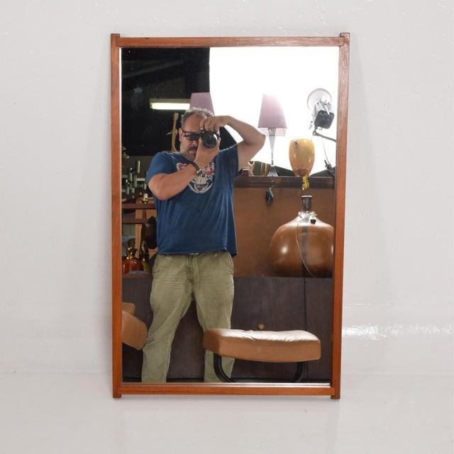 Mid-Century Danish Modern Teak Mirror For Sale - Image 9 of 9