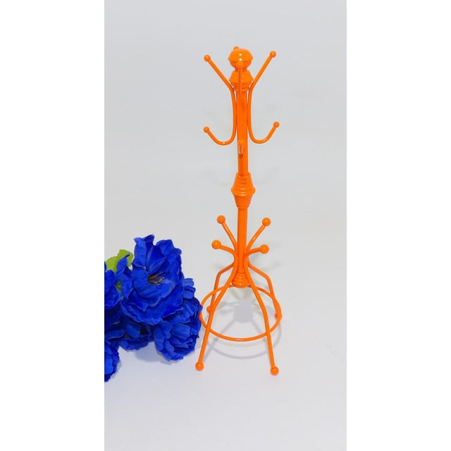 Modern Contemporary OrangeMetal Necklace Rack For Sale - Image 3 of 6