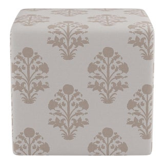 Cube Ottoman in Garden In Sand For Sale