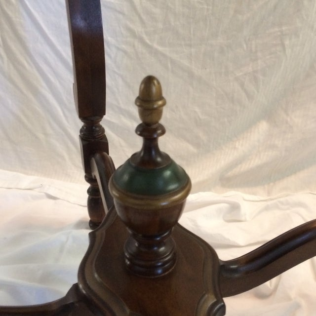 Brown Mahogany and Walnut Aesthetics Movement Lamp Table - by St. Johns Tables Michigan For Sale - Image 8 of 13