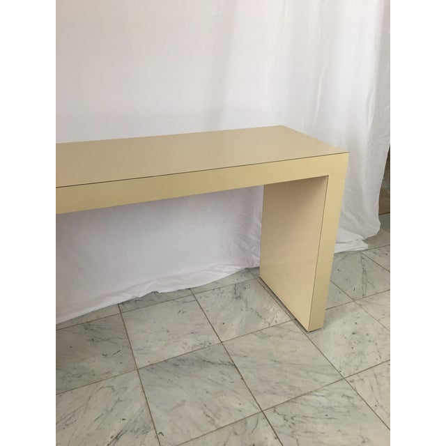 1970's Minimalist Parsons Sofa Table For Sale - Image 4 of 8