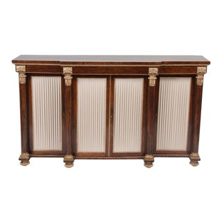 English Regency Rosewood Credenza For Sale