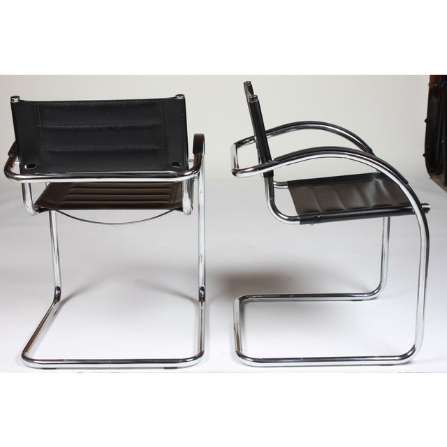 Mid Century Mod Chrome Chairs - Set of 5 - Image 4 of 4