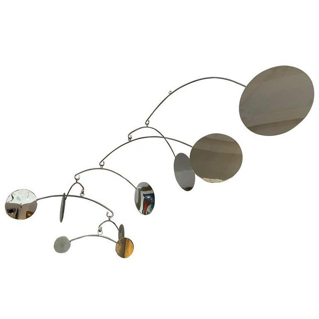 Vintage Abstract Mobile Nickel Plated For Sale - Image 12 of 13