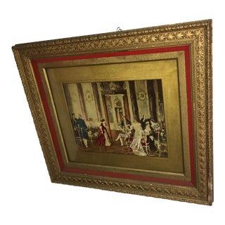 A Beautiful Old Otto Erdmann Print in Ornate Frame