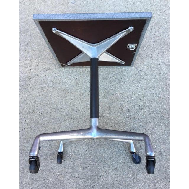 Steel Side Table on Wheels - Image 3 of 6